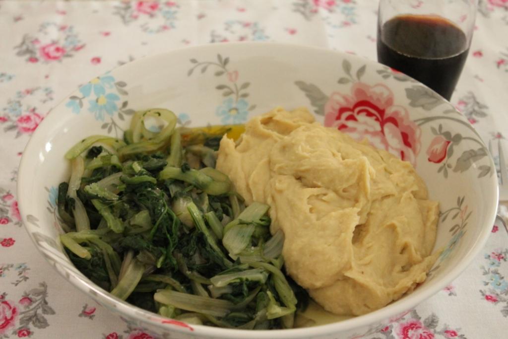 fave e verdura ricetta pugliese il mio saper fare