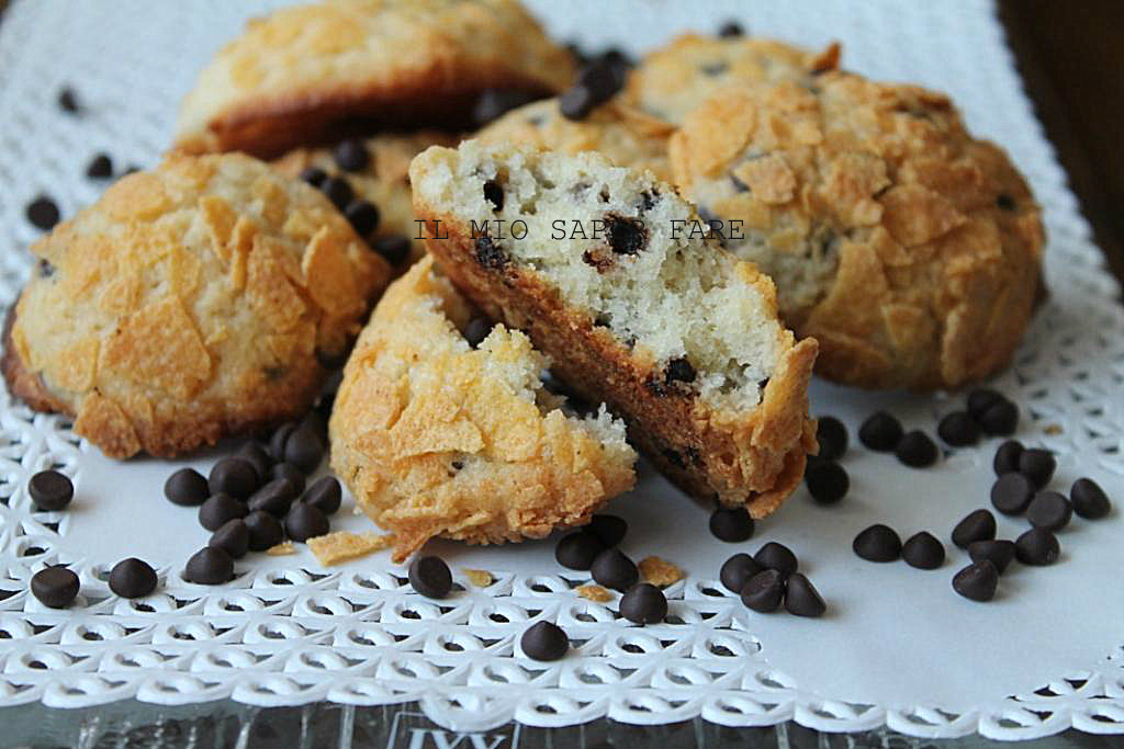 Biscotti morbidi fatti in casa con gocce di cioccolato for Nuove ricette dolci