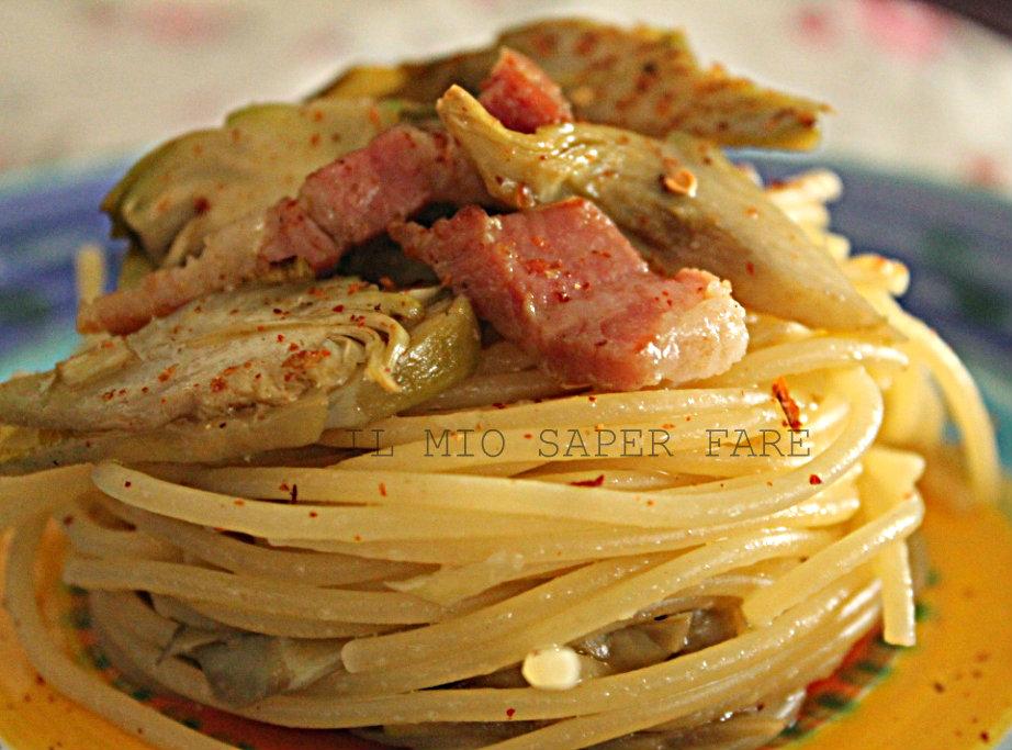 Ricetta pasta con carciofi fritti