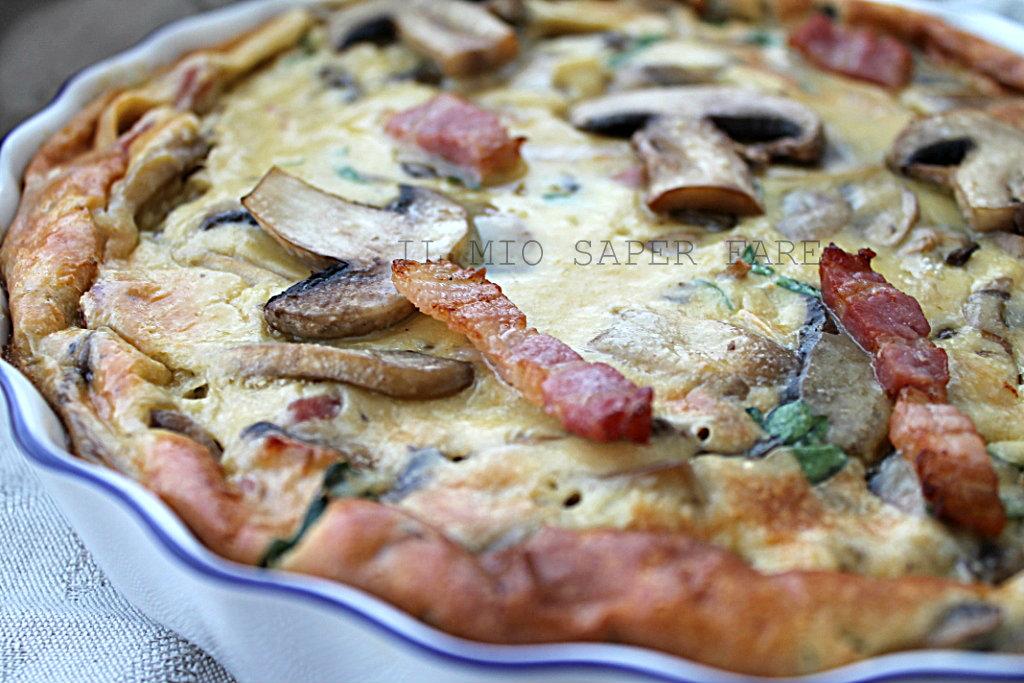 torta funghi e panna ricetta semplice IL MIO SAPER FARE