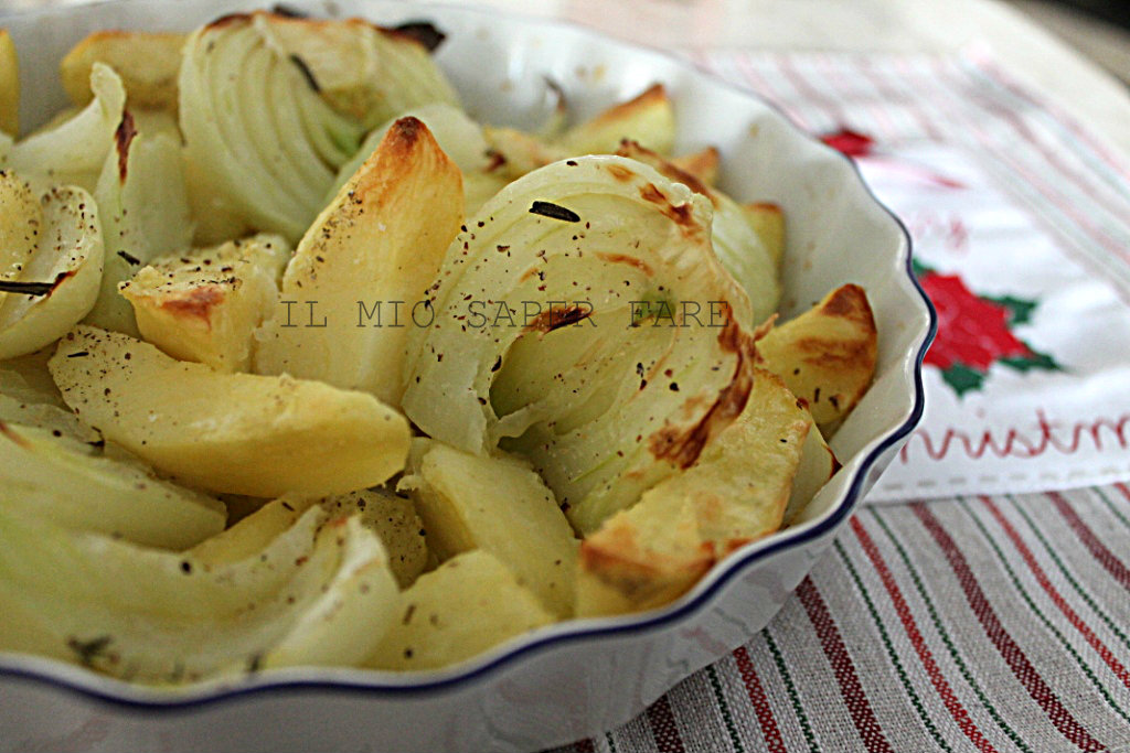 finocchio e patate al forno il mio saper fare