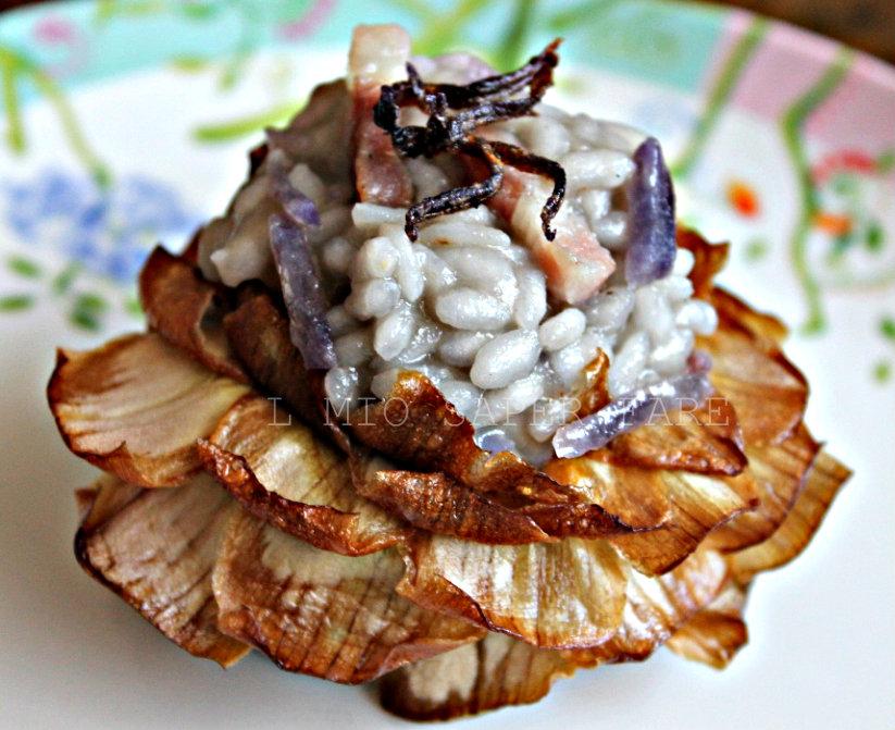 risotto con patate viola il mio saper fare