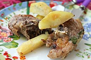 Agnello con patate al Castelmagno D.O.P. Beppino Occelli