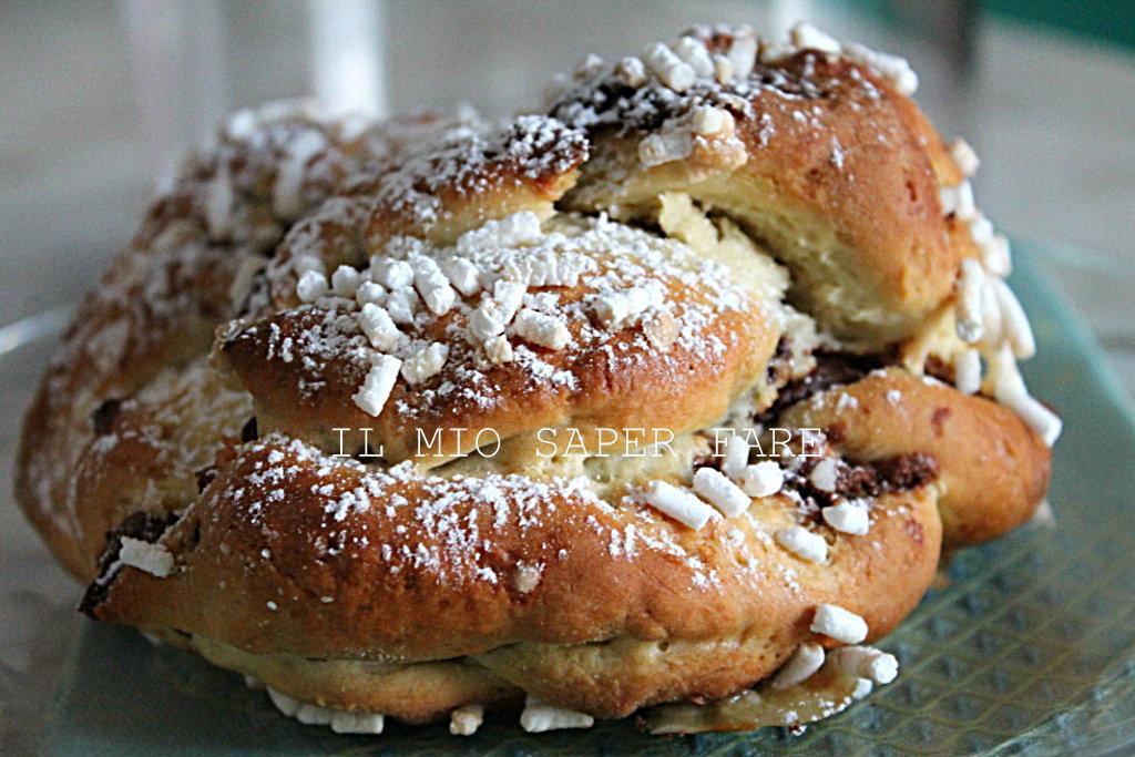 Treccia alla nutella ricetta pan brioche blog il mio saper fare