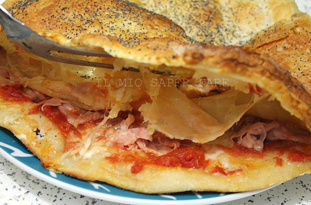Pizza parigina farcita con prosciutto mozzarella e pomodoro blog il mio saper fare