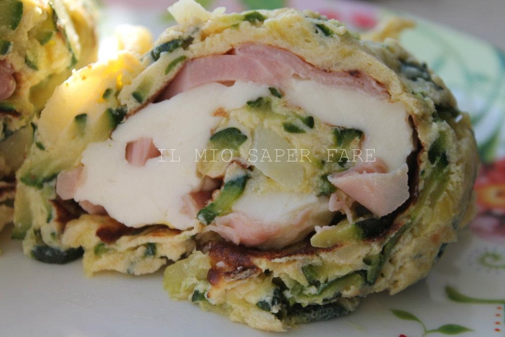 Frittata di zucchine e patate | piatto freddo blog il mio saper fare
