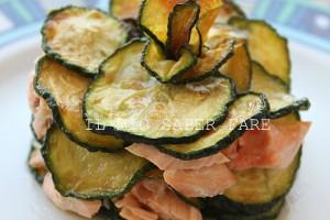 Torretta di zucchine e salmone