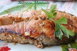 Salmone marinato all'aceto balsamico