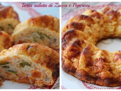 Ricette con zucca: torta salata di zucca e peperoni