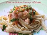 Pasta salmone crescenza e pistacchi | primo piatto veloce il mio saper fare