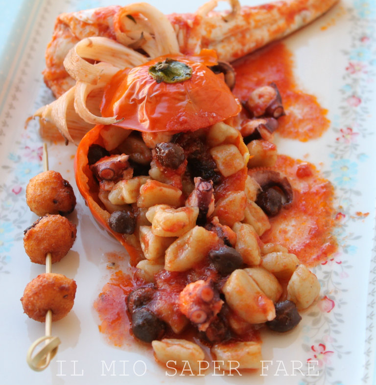 Gnocchi di melanzana rossa al sugo pesce blog il mio saper fare