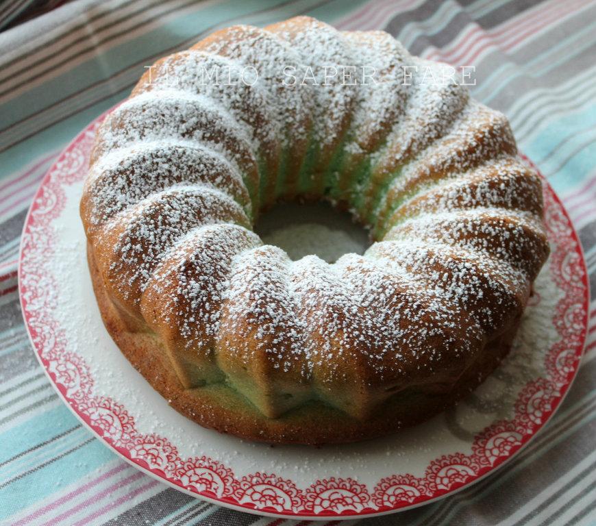 Ciambella soffice menta cocco|torta vasetti BLOG IL MIO SAPER FARE
