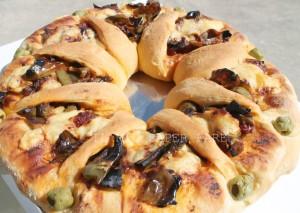 Fiore di Focaccia Peperoni e Pomodori blog il mio saper fare