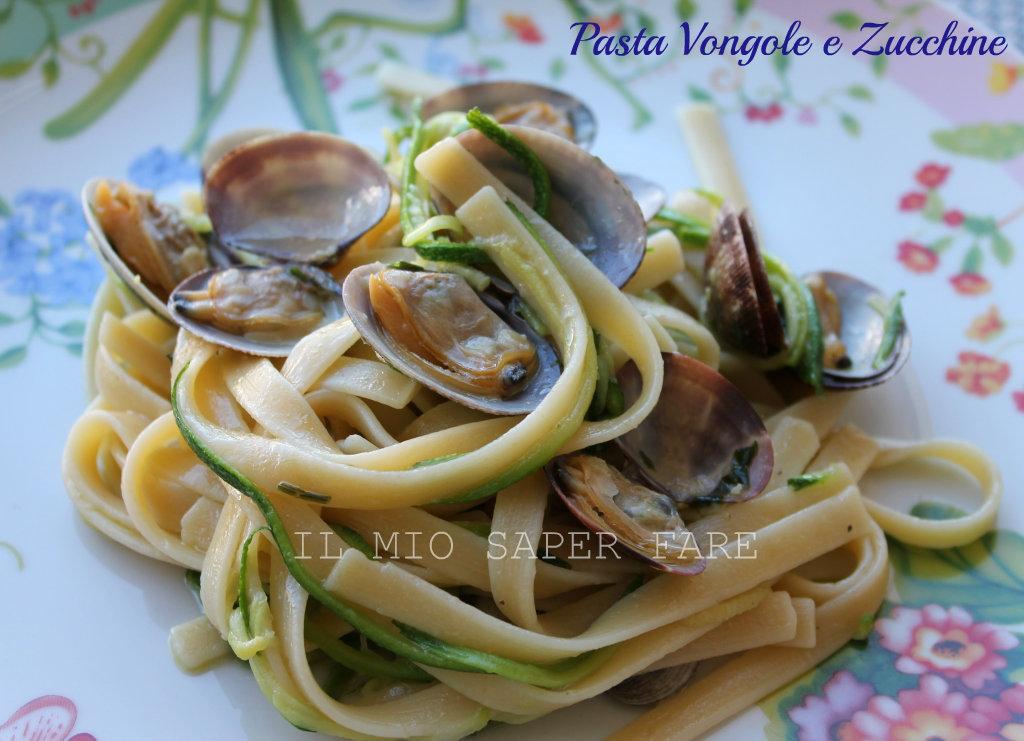 Vongole zucchine con pasta primo piatto veloce for Primo piatto veloce