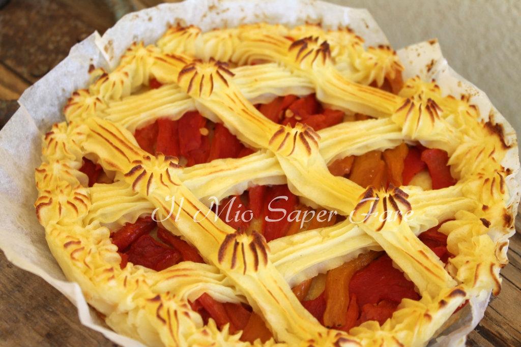 Crostata morbida con pure di patate e peperoni blog il mio saper fare