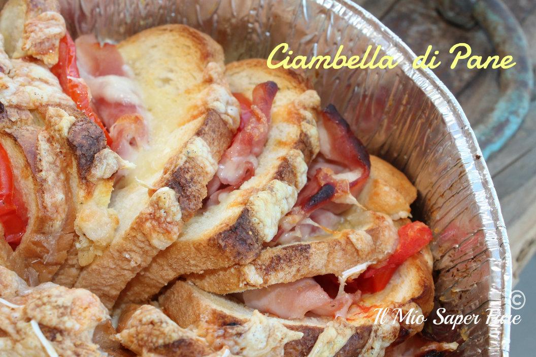 Ciambella di pane |ricetta con pane raffermo blog il mio saper fare