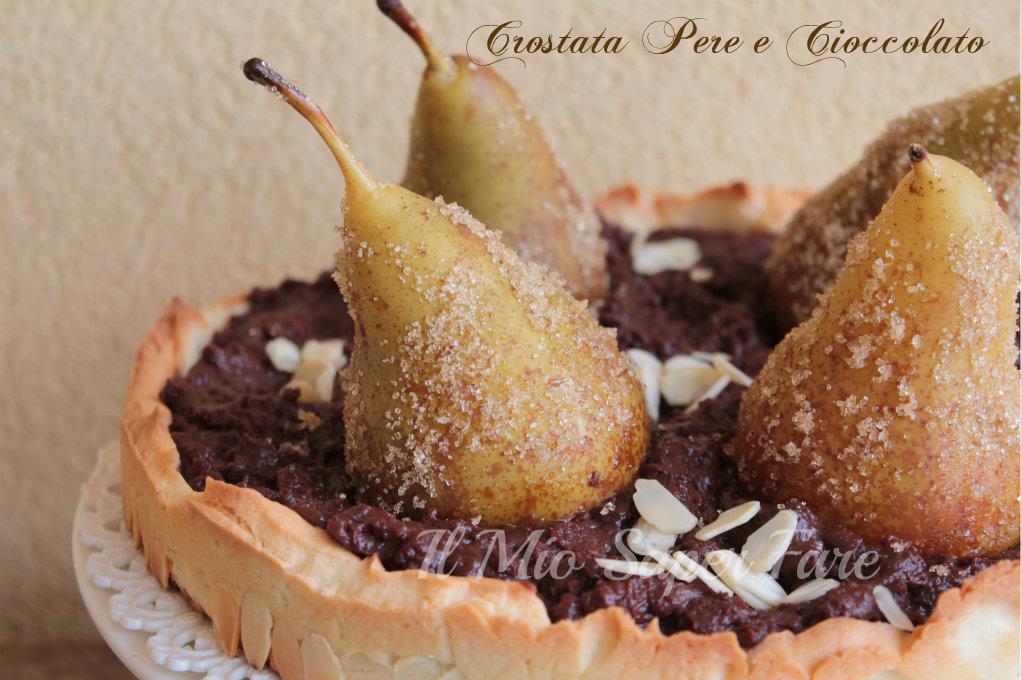 crostata pere e cioccolato blog il mio saper fare