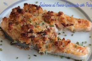 Salmone al Forno Gratinato con Patate