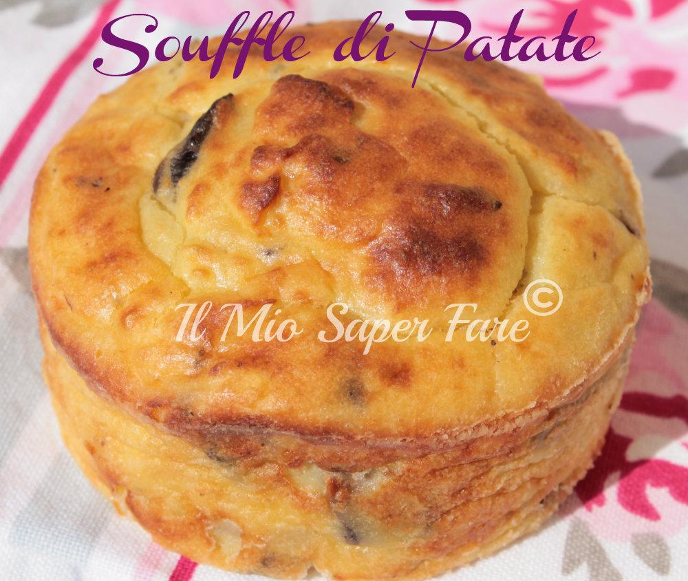 Souffle di Patate e Funghi ricetta facile  blog il mio saper fare