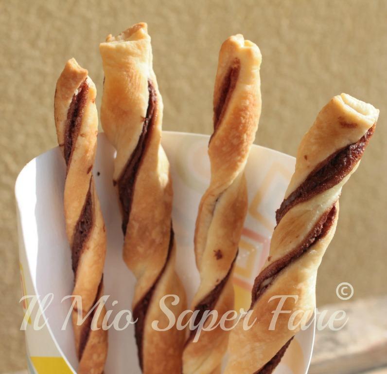 Grissini dolci ripieni di nutella ricetta blog il mio saper fare