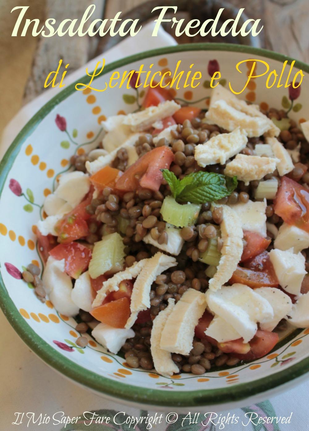 Insalata di lenticchie e pollo piatto freddo light blog il mio saper fare