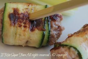 Rotolini di zucchine con polpettine