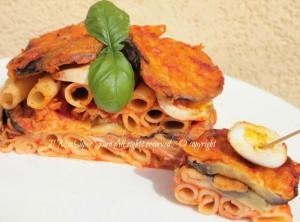 Pasta con Parmigiana di Melanzane   pasta al forno ricetta blog il mio saper fare