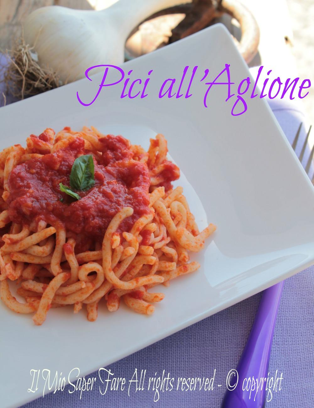 Pici all'aglione ricetta facile blog il mio saper fare
