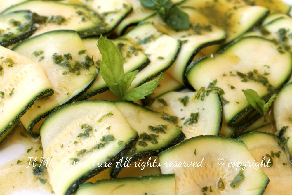 Carpaccio zucchine | Antipasti estivi blog il mio saper fare