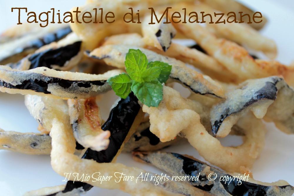 Tagliatelle di melanzane ricetta vegetariana blog il mio saper fare