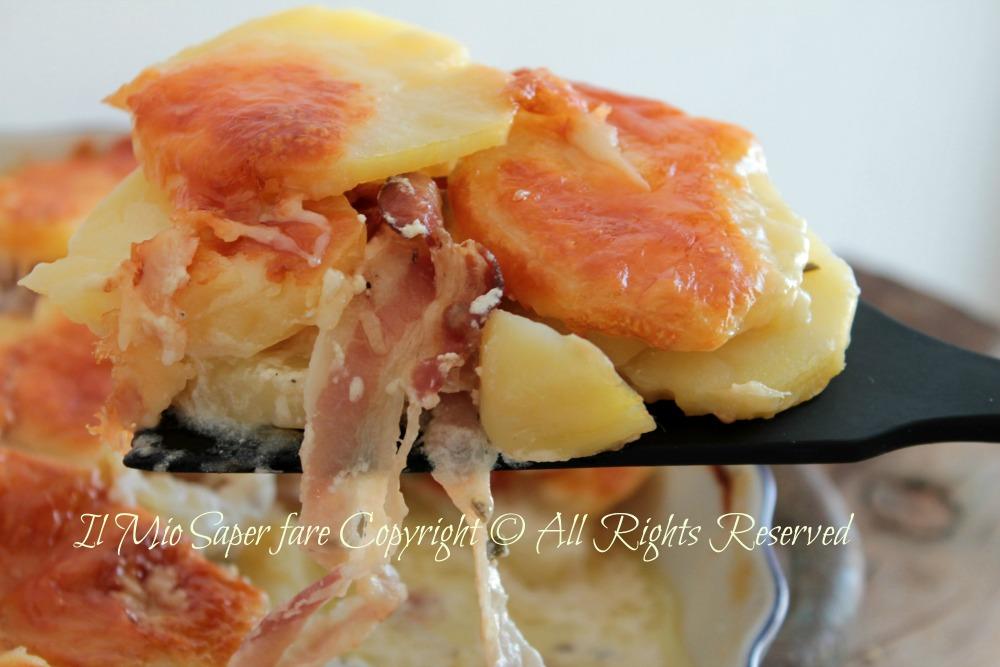 Tartiflette gratin di patate e formaggio blog il mio saper fare