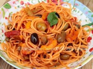 Pasta alla Trinacria ricetta primo piatto veloce