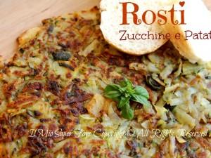 Rosti zucchine patate in padella