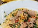 Spaghetti tonno e limone | Primo piatto veloce ricetta blog il mio saper fare