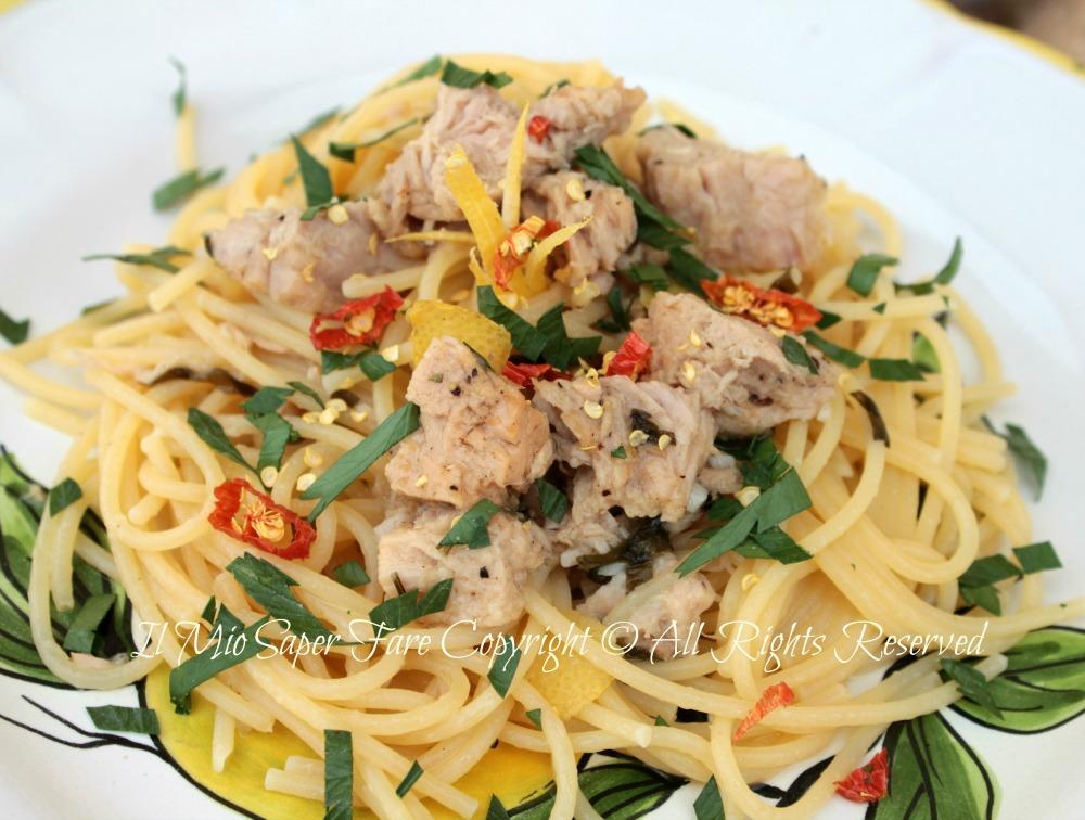 Spaghetti tonno e limone primo piatto veloce for Primo piatto veloce