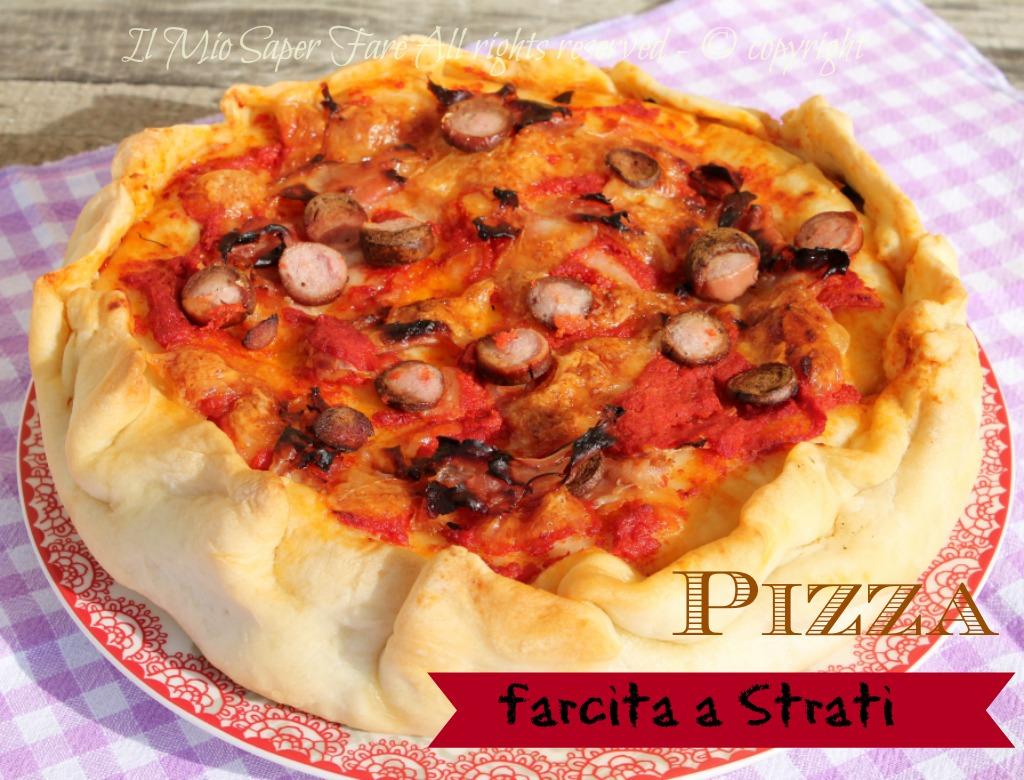 Pizza chiena a strati |cake pizza salata ricetta blog il mio saper far