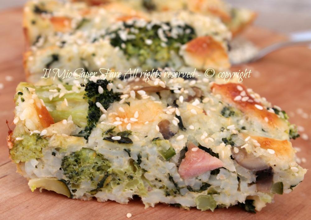 Timballo di riso alle verdure | Ricetta con broccoli il mio saper fare