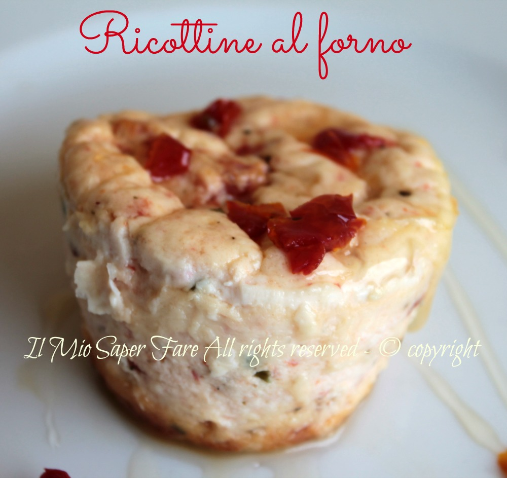 Ricottine Al Forno Con Pomodori Secchi Antipasto