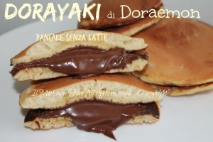 Dorayaki pancake senza latte di Doraemon