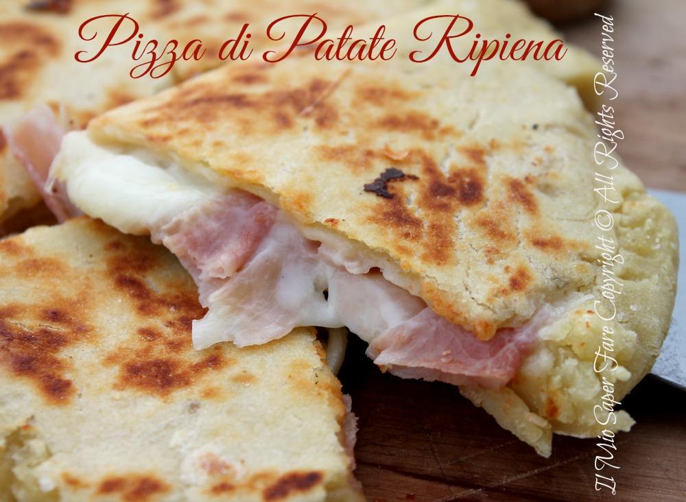 Pizza di patate in padella | Ricetta senza lievito il mio saper fare