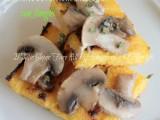 Polenta grigliata ai funghi ricetta il mio saper fare
