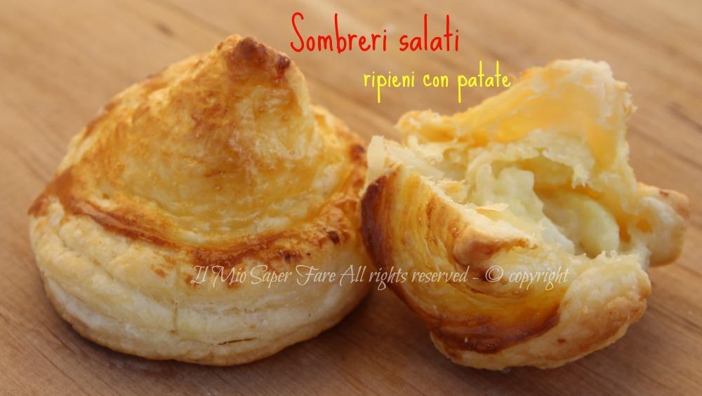 Pasta sfoglia patate formaggio sombreri ripieni