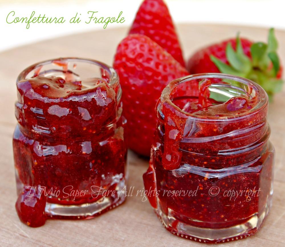 Far Bollire Vasetti Marmellata marmellata di fragole a pezzettoni | confettura