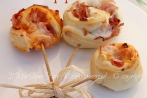 Pizza Lollipops idee buffet di compleanno