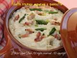 Risotto cremoso agli asparagi e pancetta ricetta il mio saper fare