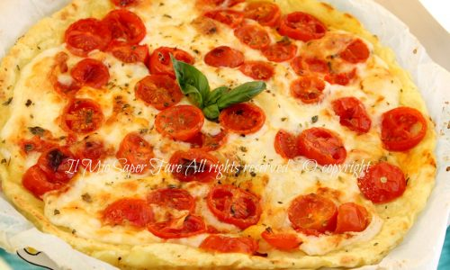 Pizza margherita di patate | Finta pizza