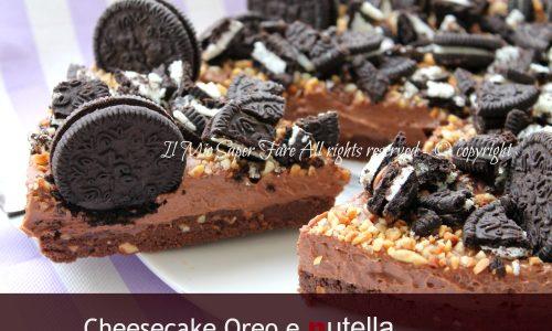 Torta fredda oreo | Cheese cake nutella