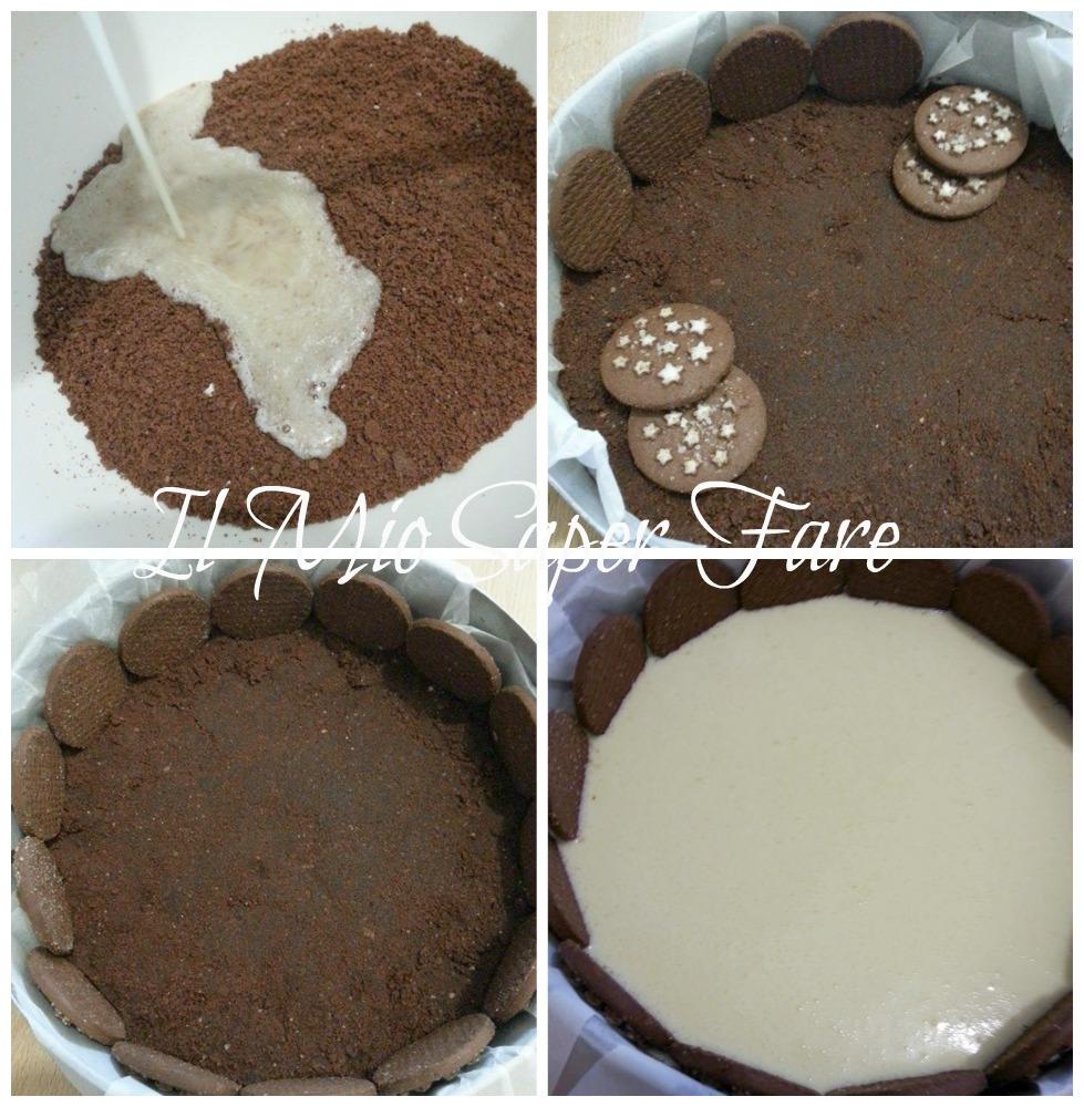 Cheesecake Pan di Stelle dolce facile ricetta il mio saper fare
