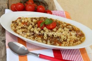 Pasta e lenticchie con soffritto e pomodorini il mio saper fare