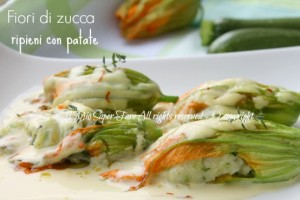 Fiori di zucca ripieni patate e zucchine